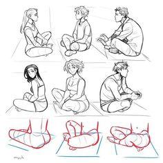 sitting pose drawing reference