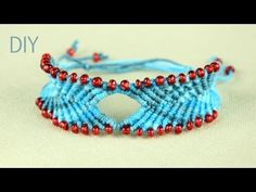 DIY Chevron style Bracelet with Diamond and Beads Video