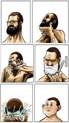 Funny pictures about Every time I shave my beard. Oh, and cool pics about Every time I shave my beard. Also, Every time I shave my beard. Moustaches, Beard Care, Hair And Beard Styles, Men's Grooming, Facial Hair, Barber Shop, Best Funny Pictures, Random Pictures, Barbers