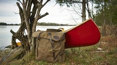 Frost River Grand Portage Canoe Pack and a wood canvas canoe from Stewart River Boatworks. Minnesota