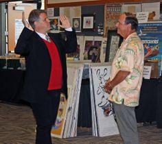 Kevin Rafferty and Author Jeff Kurtti having an animated chat...