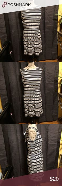 Striped Dress with Back-tie detail Cute dress | Never Worn | Cute tie detail in the back | Has a white lining underneath Ann Taylor Dresses Mini