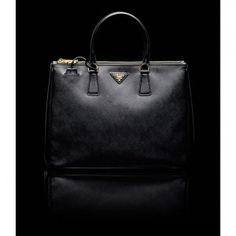 £120.00 New Prada Top Handle Saffiano Leather Tote Black 2013