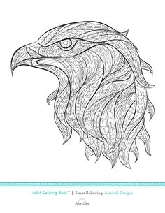 Another free adult coloring book page from Blue Star Coloring Books! Did you know Stress Relieving Animal Designs is one of our best sellers? Simply print, color, and relax! If you enjoy this image make sure to check out the additional 20+ images in our Animal Designs coloring book on Amazon!