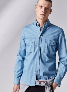 Camisa denim button down