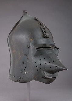 Helmet (Basinet) with Detachable Visor | probably German | The Metropolitan Museum of Art