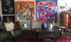 Emily Ratajkowski's loft in LA Emily Ratajkowski Loft, Emily Ratajkowski Apartment, Home Interior Design, Interior Architecture, Interior And Exterior, Interior Decorating, Appartement Design, Poster Design, Small Apartment Decorating