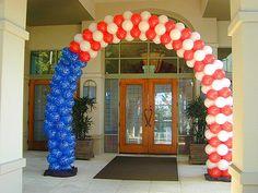4th of July balloon display.