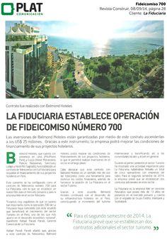 La Fiduciaria: Operación 700 en la revista Construir de Perú (08/09/14)