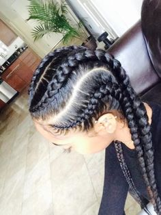 Braids, black hair
