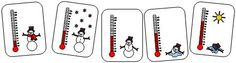 Printable Melting Snowman Sequencing Cards with Temperature Gauge from Making Learning Fun