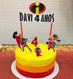 3rd Birthday, Birthday Parties, Party Themes, Birthdays, The Incredibles, Desks, Desserts, First Birthday Parties, Birthday Cake Decorating