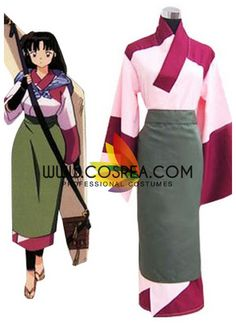 Costume Detail Inuyasha Sango Cosplay Costume Includes - Kimono Set, Apron We may have selected store sizes for this costume, ready for fast ship. Please check with us on availability and approximate