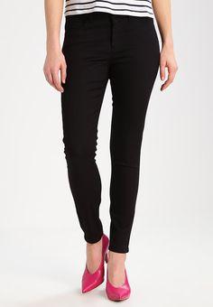 Vero Moda Petite VMHOT SEVEN - Jeans Slim Fit - black - Zalando.dk