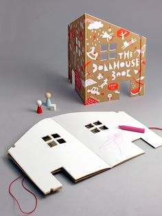 The Dollhouse Book | Rock & Pebble. Amazing idea, would be perfect for my kids.