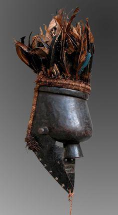 """African Art-Africart-Art Africain-Arte Africana-Maschera """"Kasangu"""" - Salampasu (Basalampasu)"""
