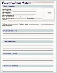 Curriculum Vitae Formato Word Para Rellenar Gratis Sin Experiencia