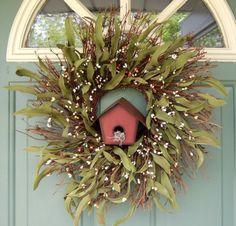 summer door wreaths   Summer Wreath Wreath for Door Mothers Day Wreath by countryprim