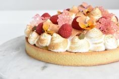Hindbær/Citron tærte – Tine's Verden
