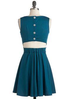 Interesting back detail  Brunch Party Dress   Mod Retro Vintage Dresses   ModCloth.com