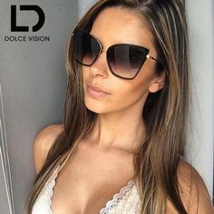0e4231b33c New Fashion Cat Eye Sunglasses Women Brand Designer Summer Style Big Size  Frame Mirror Sunglasses Female