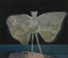 Peter Doig, Man Dressed As Bat (Night), 2008, Oil, distemper on...