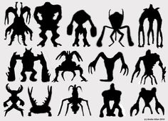 Alien monster silhouettes 1 by PoetryMan1 on deviantART