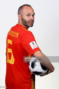 06e0205db5d Andres Iniesta of Spain poses for a portrait during the official FIFA World  Cup 2018 portrait
