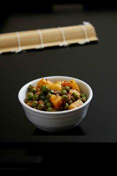Dry Aloo Matar Recipe   Sukha aloo matar subzi recipe