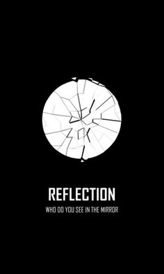 I was thinking about this very deeply and realised that the mirror is shattered because what you see on the outside is not you,it is what on the inside that is you