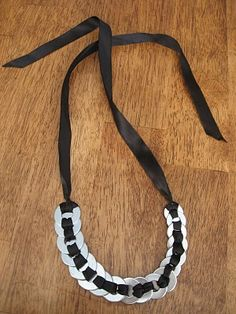 Woven Washer necklace tutorial -- I'm starting to think the hardward store is a cool place to browse!