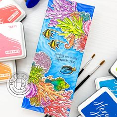 May My Monthly Hero Release and Blog Hop – Crafts by Channin Vitamin Sea, Hero Arts Cards, Honey Bee Stamps, Foam Adhesive, Alcohol Markers, Clear Stamps, I Card, Card Making, Paper Crafts