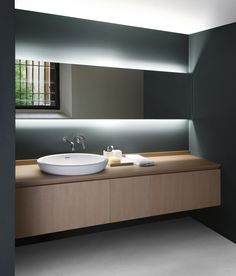 serene minimal countertop washbasin gorgeous hidden lighting agape bathrooms the hidden landscape - Modern Design Bathrooms 2010