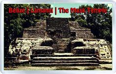 $3.29 - Acrylic Fridge Magnet: Belize. Lamanai. The Mask Temple