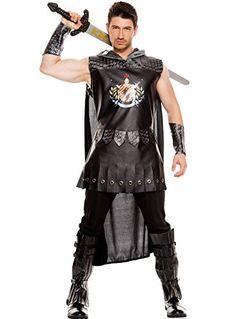 MUSIC LEGS Mens Medieval Warrior King Black Medium -- Visit the image link more details.