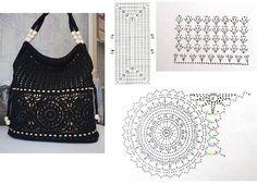 Mochila Crochet, Crochet Tote, Crochet Baby Booties, Crochet Purses, Crochet Yarn, Crochet Bag Tutorials, Crochet Purse Patterns, Crochet Projects, Mode Crochet
