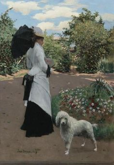 Jean Beraud (France, Belle Epoque в Париже Poodles, Auguste Herbin, Jean Beraud, Maurice Utrillo, French Impressionist Painters, Jean Georges, Art Gallery, Amor Animal, Old Paris