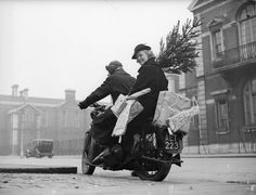 VINTAGE MOTORCYCLE CHRISTMAS PRESENTS