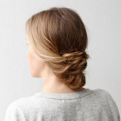 Create a cute and casual updo perfect for those days when you want something that looks special without a lot of extra time.