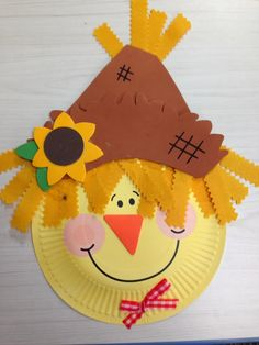 Easy 30 Diy Scarecrow Craft Ideas for Your Kid Creativity Autumn Crafts, Fall Crafts For Kids, Toddler Crafts, Art For Kids, Autumn Art Ideas For Kids, Kids Crafts, Paper Plate Art, Paper Plate Crafts, Paper Plates