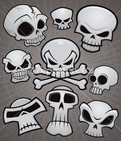 Cartoon Skull Collection — Stock Vector #10262784