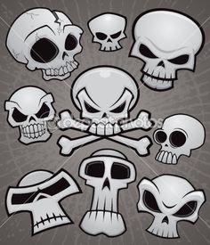 Cartoon Skull Collection — Stock Vector #10262784