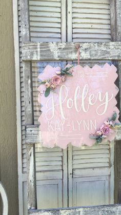 Shabby Chic Home Decor Hospital Door Wreaths, Hospital Door Hangers, Baby Door Hangers, Girl Nursery, Nursery Decor, Nursery Ideas, Floral Hoops, Nursery Storage, Nursery Modern