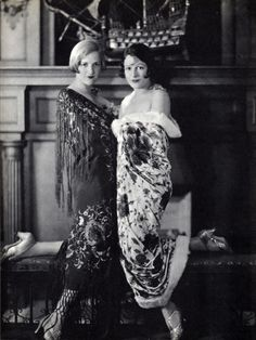 Constance and Norma Talmadge - sister silent film stars  at home in California.