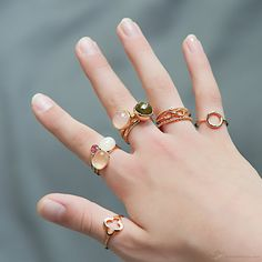 Rosé Gold Ring Collection