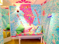 My happy place! Lilly Pulitzer dressing room at St. Armands Lilly store!