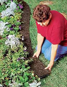 """5-1/2"""" Recycled Rubber Edge Border #LandscapeBorders"""