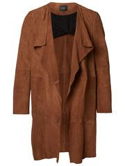 SUEDE - COAT, Brown Patina