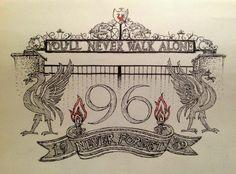 Liverpool FC tattoo design - drawn in pen. Liverpool Bird, Liverpool Tattoo, Liverpool Anfield, Liverpool Soccer, Dad Tattoos, Couple Tattoos, Woman Tattoos, Lfc Tattoo, Sugar Skull Girl Tattoo