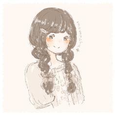 Braid girl * Kawaii Anime Girl, Anime Art Girl, Anime Girls, Forest Girl, Mori Girl, Kawaii Cute, Girl Cartoon, Anime Style, Art Tutorials